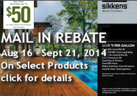 Sikkens Stain Mail in Rebate